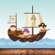Bolly the Bird piratenboot babybehang