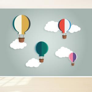 Luchtballonnen behang design voor uw babykamer
