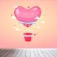 Luchtballon meisjes behang voor uw babykamer