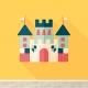 Kasteel design behang voor uw babykamer