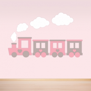 Trein meisjeskamer behang voor uw babykamer