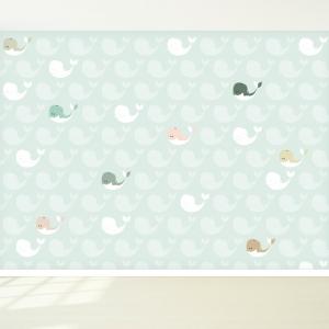 Walvissen design behang voor uw babykamer