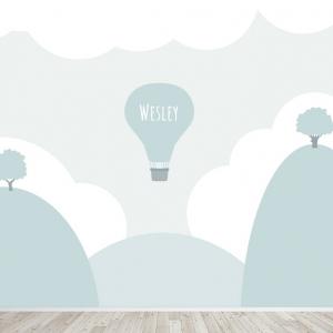 Luchtballon landschap behang