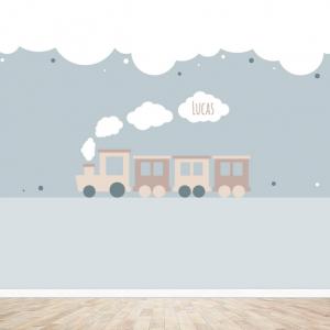 Trein behang voor uw babykamer