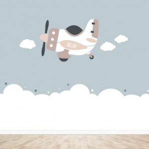 Vliegtuig behang design voor uw babykamer
