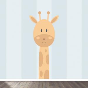 Giraffe blauw behang voor uw babykamer