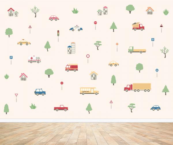 Auto behang voor uw babykamer