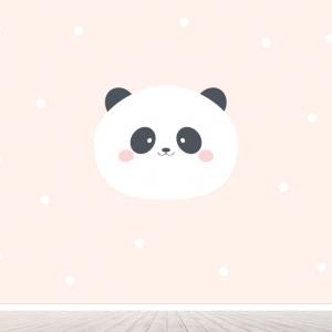 Panda meisjes behang voor babykamer