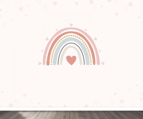 Regenboog behang voor meisjeskamer
